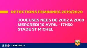 Détection Féminines au Canet Roussillon F.C. @ Stade St Michel